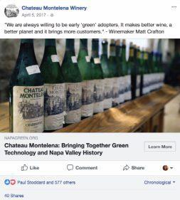 Chateau Montelena Social Media